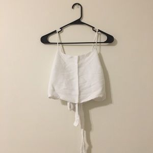 Brandy Melville White cropped top